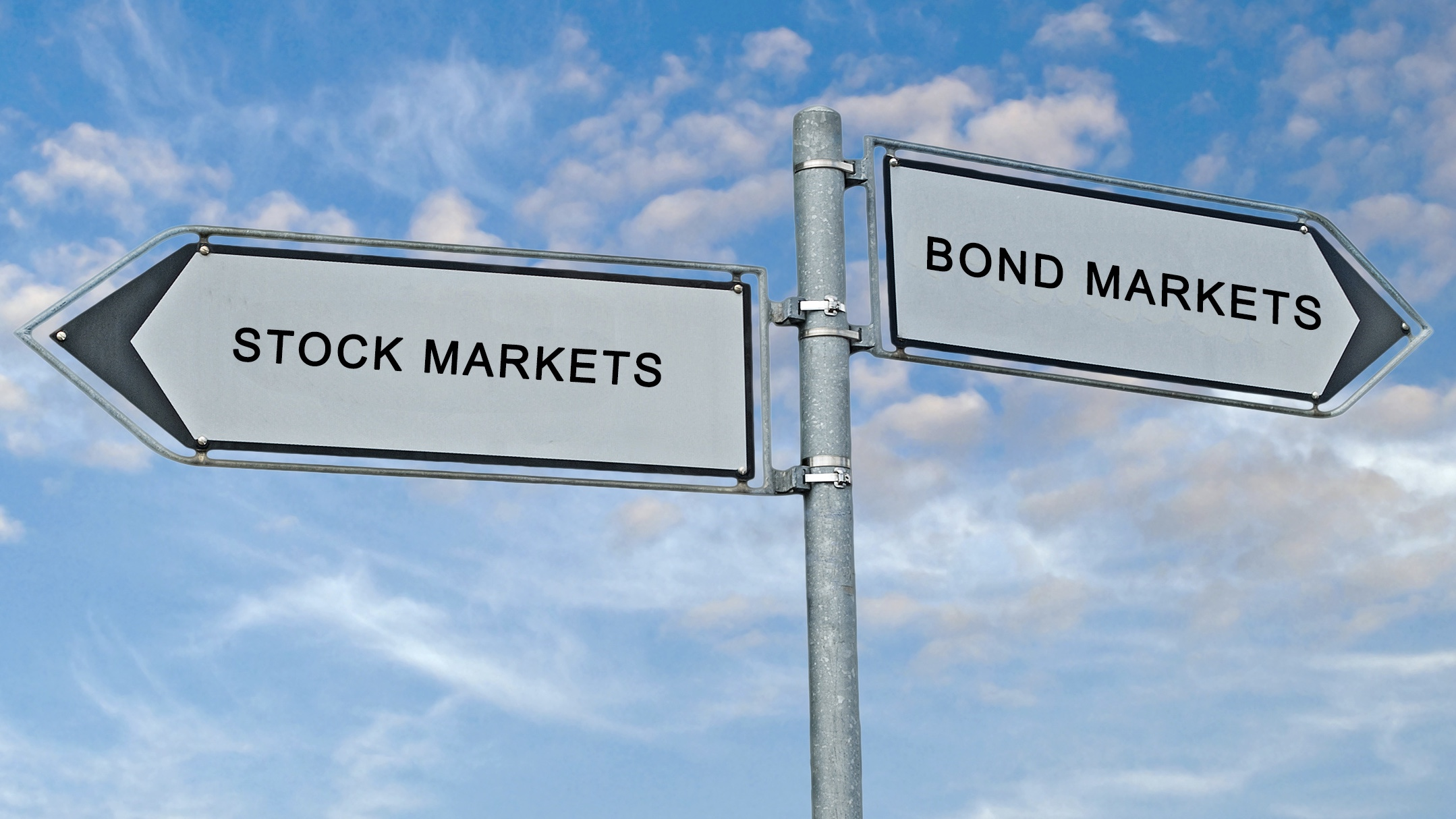 Stocks and bonds are currently sending mixed market signals.