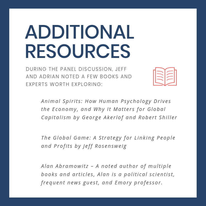 Additional resources, including referenced books and experts, from the discussion.
